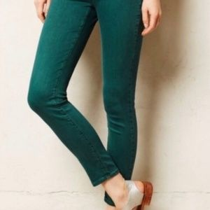 AG Green Stevie Ankle Jeans Size 27